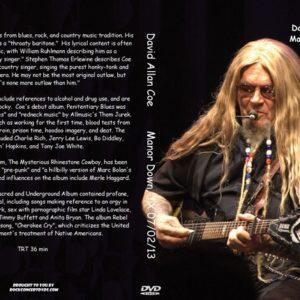 David Allan Coe 2013-07-02 Manor Down, TX DVD