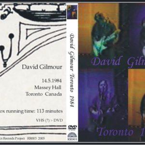 David Gilmour 1984-05-14 Toronto, Canada DVD