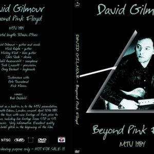 David Gilmour 1984 MTV Beyond Pink Floyd DVD