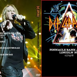 Def Leppard 2018-07-19 Pinnacle Bank Arena, Lincoln, NE DVD