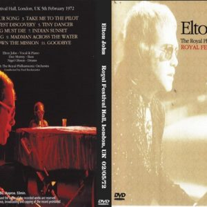 Elton John 1972-02-05 Royal Festival Hall, London, UK DVD