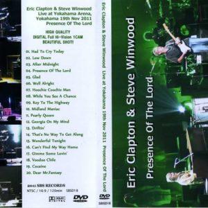 Eric Clapton & Steve Winwood 2011-11-19 Yokohama, Japan DVD
