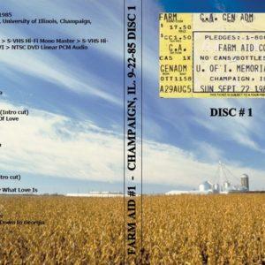 Farm Aid #1 1985-09-22 Champaign, IL Vol. 1 DVD