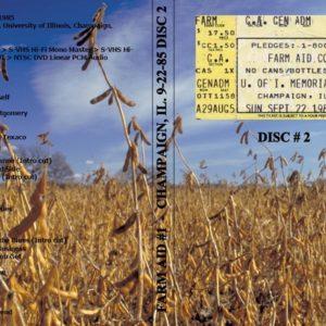 Farm Aid #1 1985-09-22 Champaign, IL Vol. 2 DVD