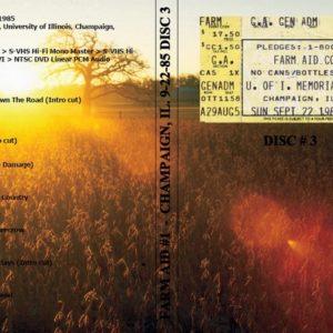 Farm Aid #1 1985-09-22 Champaign, IL Vol. 3 DVD