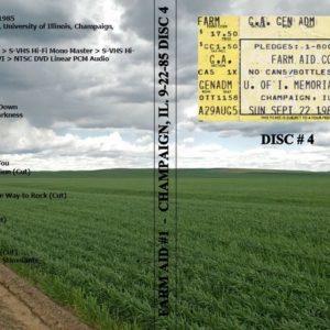 Farm Aid #1 1985-09-22 Champaign, IL Vol. 4 DVD