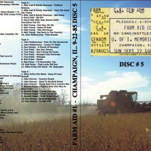 Farm Aid #1 1985-09-22 Champaign, IL Vol. 5 DVD