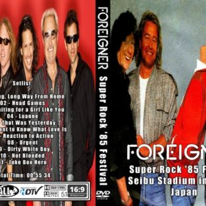 Foreigner 1985 Super Rock '85 Festival DVD