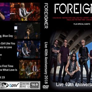 Foreigner 2018 Live 40th Anniversary DVD