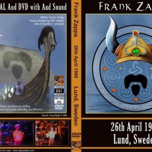 Frank Zappa 1988-04-26 Lund, Sweden 2 DVD