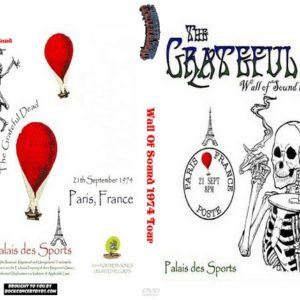 Grateful Dead 1974-09-21 Wall Of Sound, Paris, France DVD