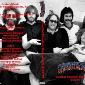 Grateful Dead 1977-04-27 Capitol Theater, Passaic, NJ 2 DVD