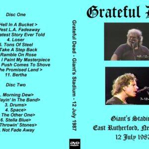 Greatful Dead 1987-07-12 Giants Stadium, East Rutherford, NJ 3 DVD