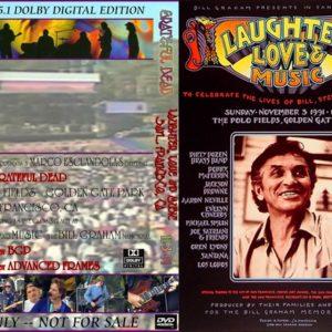 Greatful Dead 1991-11-03 Golden Gate Park, San Francisco, CA DVD