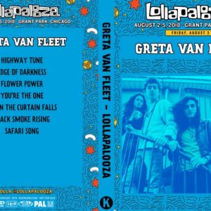 Greta Van Fleet 2018-08-03 Lollapalooza, Chicago, Illinois DVD