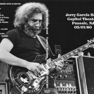 Jerry Garcia Band 1980-03-01 Capitol Theater, Passaic, NJ DVD