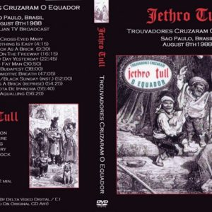 Jethro Tull 1988-08-08 San Paulo, Brazil DVD