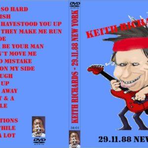 Keith Richards 1988-11-29 New York, NY DVD
