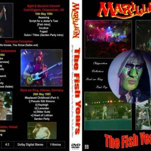 Marillion 1984-85 The Fish Years Various European TV Concerts DVD