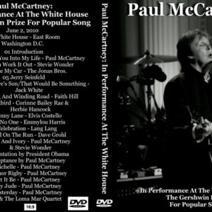 Paul McCartney 2010-06-02 Performing At The White House DVD