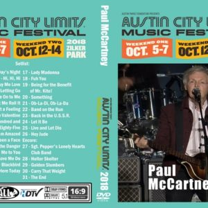 Paul McCartney 2018-10-05 Austin City Limits, TX DVD