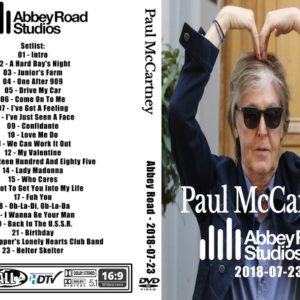 Paul McCartney 2018 Abbey Road Studios DVD