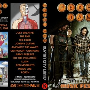 Pearl Jam 2009-10-03 Austin City Limits, Austin, TX DVD