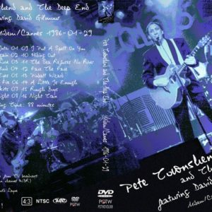 Pete Townshend and David Gilmour 1986-01-29 Rockpalast, Germany DVDDVD