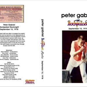Peter Gabriel 1978-09-15 Essen, West Germany DVD