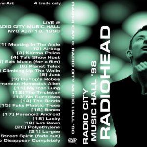 Radiohead 1998-04-18 Radio City Music Hall, New York, NY DVD
