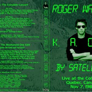 Roger Waters 1987-11-07 Quebec, Canada 2 DVD