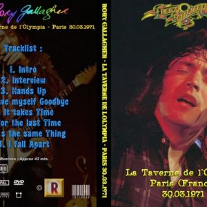 Rory Gallagher 1971-03-30 Paris, France DVD