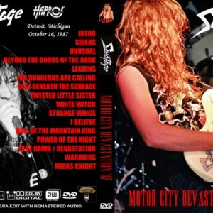 Savatage 1986-10-16 Motor City Devastation, Detroit, MI DVD