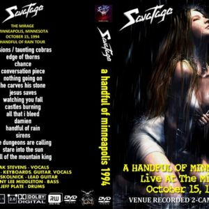 Savatage 1994-10-15 The Mirage, Minneapolis, MN DVD