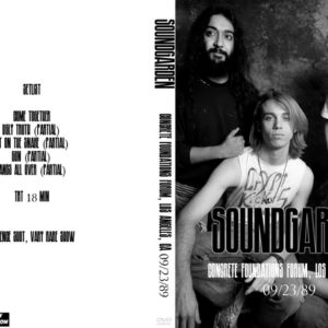 Soundgarden 1989-09-23 Concrete Foundations Forum, Los Angeles, CA DVD