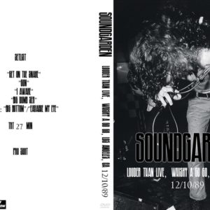 Soundgarden 1989-12-10 Louder Than Live, Whisky a Go Go, Los Angeles, CA DVD