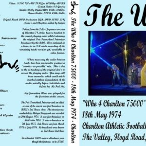 The Who 1974-05-18 Who 4 Charlton 75000 DVD