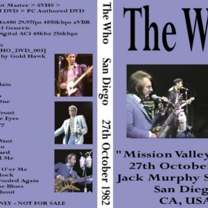 The Who 1982-10-27 San Diego, CA DVD