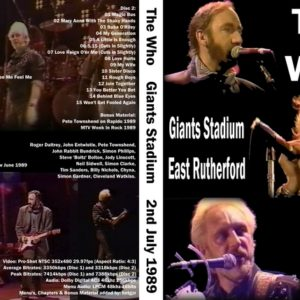 The Who 1989-07-02 Giants Stadium, East Rutherford, NJ 2 DVD
