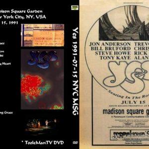 Yes 1991-07-15 Madison Square Garden, New York, NY 2 DVD
