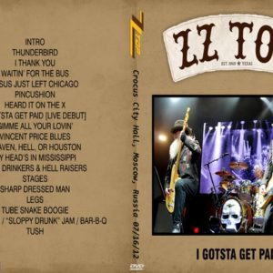 ZZ Top 2012-07-16 Crocus City Hall, Moscow, Russia DVD