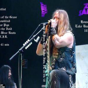 Zakk Sabbath 2016-10-04 House of Blues, Lake Buena Vista, FL DVD