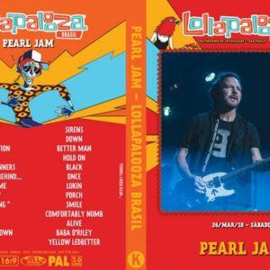 Pearl Jam 2018 Lollapalooza Brazil, São Paulo, Brazil DVD