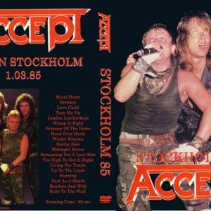 Accept 1985-03-01 Isstadion, Stockholm, Sweden DVD