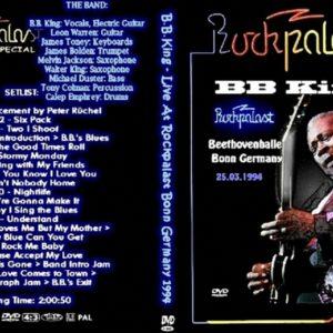 BB King 1994-03-24 Rockpalast, Bonn, Germany DVD