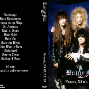 Britny Fox 1988-02-20 Newark, NJ DVD