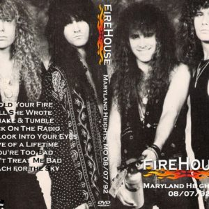 Firehouse 1992-08-07 Maryland Heights, MO DVD