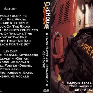Firehouse 1992-08-15 Illinois State Fair, Springfield, IL DVD