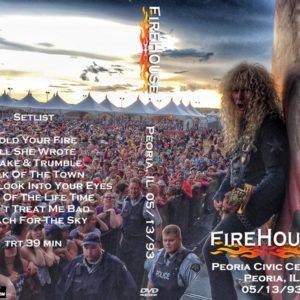 Firehouse 1993-05-13 Peoria Civic Center, Peoria, IL DVD