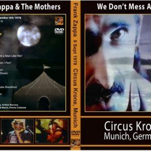 Frank Zappa 1978-09-08 We Don't Mess Around, Circus Krone, Munchen, Germany DVD